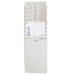 Pyramid 400-10 10 Slot Plastic Time Card Rack
