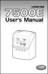 Lathem 7500E User Manual