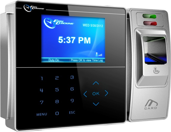 Easy Clocking EC500 advanced fingerprint (biometric) time and attendance  bundy time clock package
