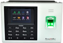 Fingertec TA500 time clock: biometric reader with USB, network interface, plug pack and TCMS V3 software