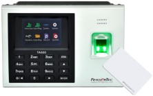 Fingertec TA500R time clock: biometric and RFID proximity readers with USB, ethernet network interface, plug pack and TCMS V3 software