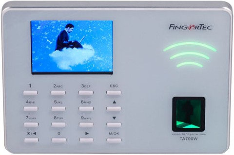 Fingertec TA700W fingerprint (biometric) time and attendance bundy time  clock package