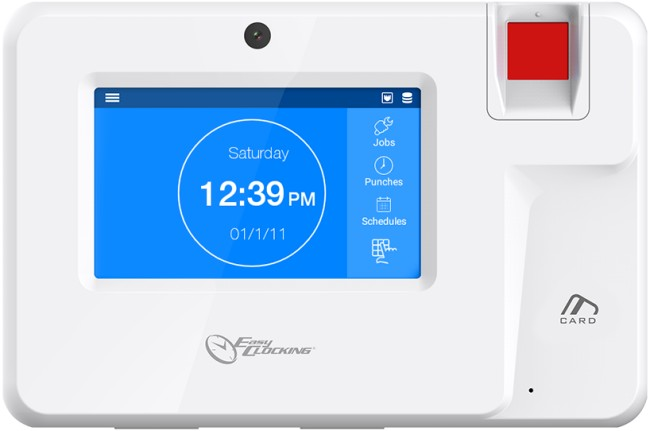 Easy Clocking Xenio 200 cloud based standard fingerprint (biometric) time  and attendance bundy time clock package