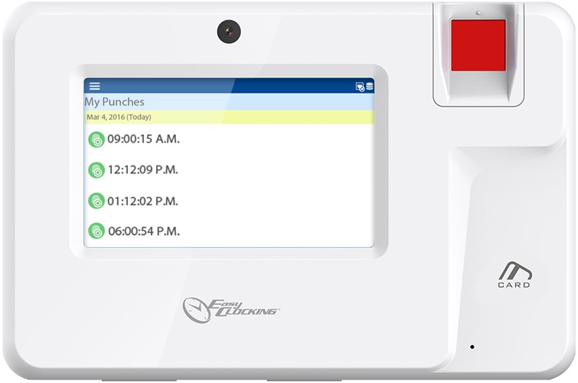 Easy Clocking Xenio 200 scheduling